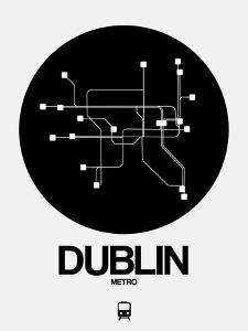Dublin Black Subway Map by NaxArt