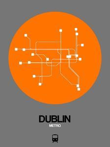 Dublin Orange Subway Map by NaxArt
