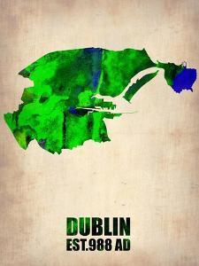 Dublin Watercolor Map by NaxArt