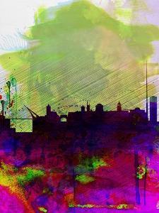 Dublin Watercolor Skyline by NaxArt