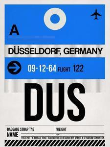 DUS Dusseldorf Luggage Tag I by NaxArt