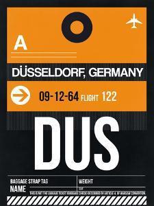 DUS Dusseldorf Luggage Tag II by NaxArt