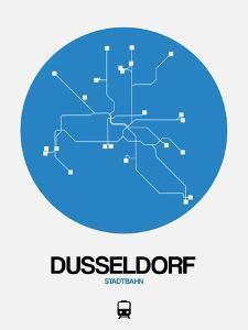 Dusseldorf Blue Subway Map by NaxArt