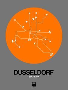 Dusseldorf Orange Subway Map by NaxArt