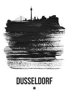Dusseldorf Skyline Brush Stroke - Black by NaxArt