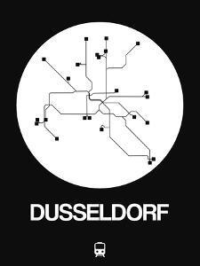 Dusseldorf White Subway Map by NaxArt