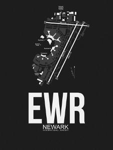 EWR Newark Airport Black by NaxArt
