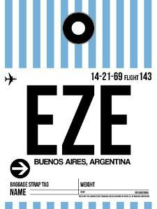 EZE Buenos Aires Luggage Tag I by NaxArt