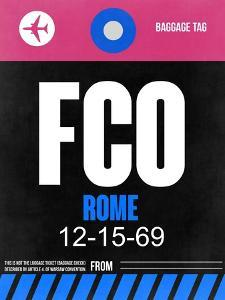 FCO Rome Luggage Tag 2 by NaxArt