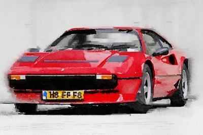 Ferrari 208 GTB Turbo Watercolor