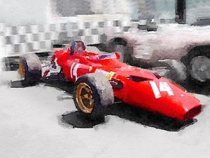 Ferrari 312 Laguna Seca Watercolor by NaxArt