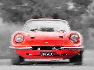 Ferrari Dino 246 GT Front Watercolor by NaxArt
