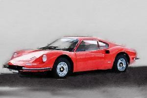 Ferrari Dino 246 GT Watercolor by NaxArt