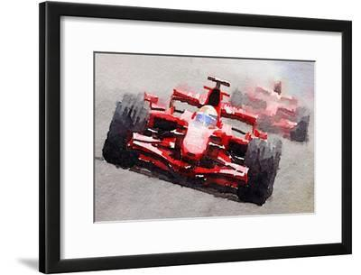 Ferrari F1 Race Watercolor