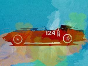 Ferrari Testa Rossa Watercolor 1 by NaxArt