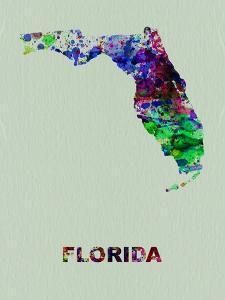 Florida Color Splatter Map by NaxArt