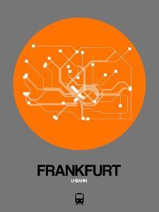 Frankfurt Orange Subway Map by NaxArt