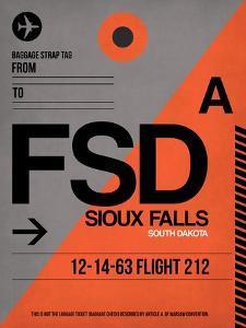 FSD Sioux Falls Luggage Tag I by NaxArt