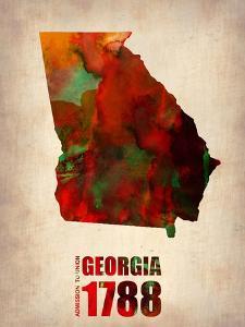 Georgia Watercolor Map by NaxArt