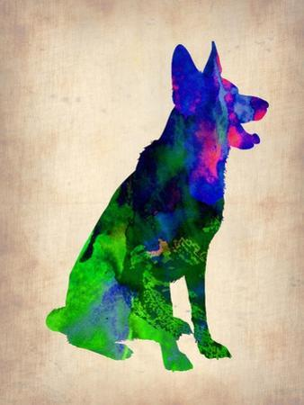 German Sheppard Watercolor by NaxArt