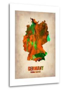 Germany Watercolor Map by NaxArt