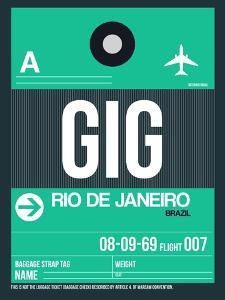 GIG Rio De Janeiro Luggage Tag 1 by NaxArt