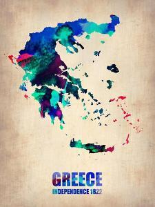 Greece Watercolor Poster by NaxArt