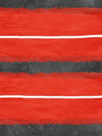 Grey and Red Abstract 3 by NaxArt