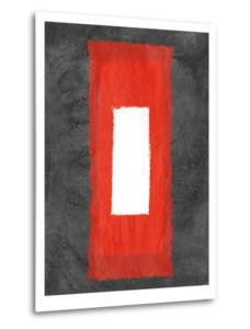 Grey and Red Abstract 4 by NaxArt