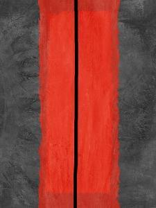 Grey and Red Abstract 5 by NaxArt