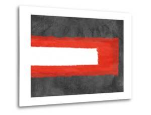 Grey and Red Abstract 6 by NaxArt