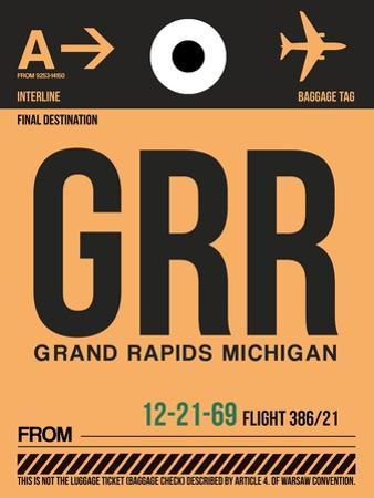 GRR Grand Rapids Luggage Tag I by NaxArt