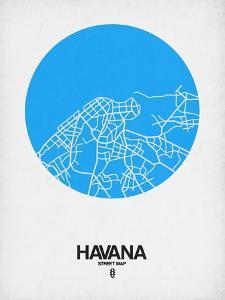 Havana Street Map Blue by NaxArt