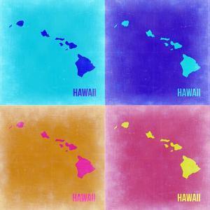 Hawaii Pop Art Map 2 by NaxArt