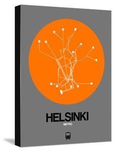Helsinki Orange Subway Map by NaxArt