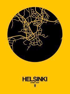 Helsinki Street Map Yellow by NaxArt