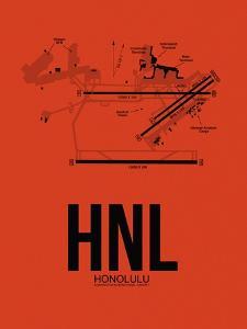 HNL Honolulu Airport Orange by NaxArt