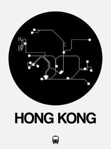 Hong Kong Black Subway Map by NaxArt