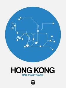 Hong Kong Blue Subway Map by NaxArt