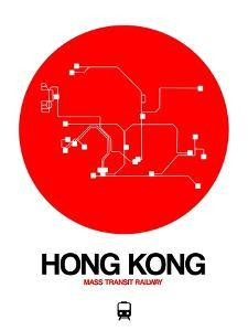 Hong Kong Red Subway Map by NaxArt