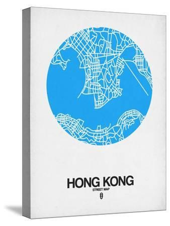 Hong Kong Street Map Blue