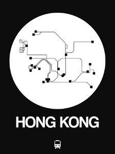 Hong Kong White Subway Map by NaxArt