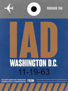 IAD Washington Luggage Tag 2 by NaxArt