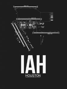IAH Houston Airport Black by NaxArt