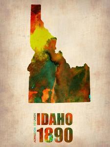 Idaho Watercolor Map by NaxArt
