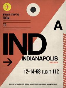 IND Indianapolis Luggage Tag 1 by NaxArt