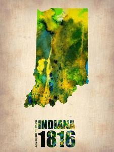 Indiana Watercolor Map by NaxArt