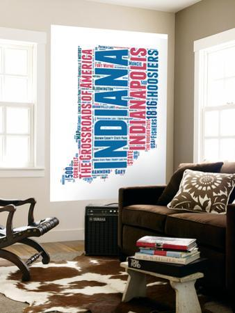 Indiana Word Cloud Map