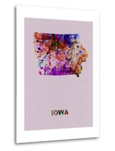 Iowa Color Splatter Map by NaxArt