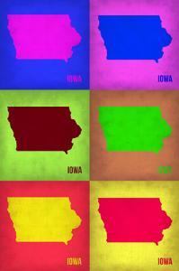 Iowa Pop Art Map 2 by NaxArt